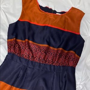 Loft Striped Dress Sz 4 Like New